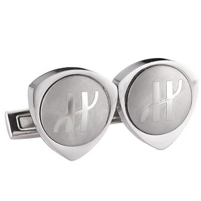 Best Quality Hublot Stylish Style Silver Logo Cufflinks With Triangle Shape For Male