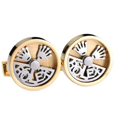 Most Popular Rolex Carved Silver Symbol Nummular Quality Gold Sleeve Buttons Men