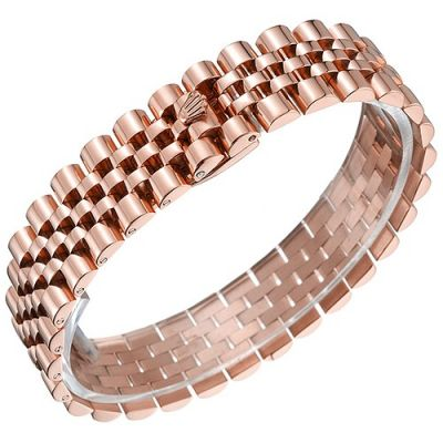 Rolex Jubilee Wide Rose Gold Link Bracelet With Red Motifs Hot Sale Men's Valentine Gift