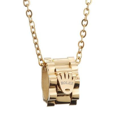 Rolex Gold Plated Chain Necklace Crown Symbol Pendant New Arrival Unisex Jewelry Online Shop
