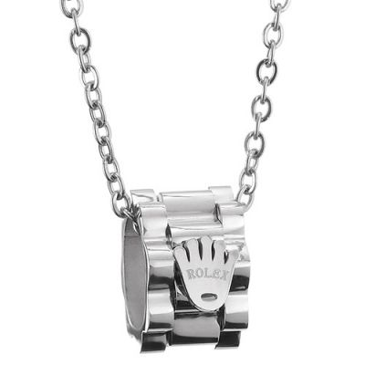 Rolex Crown Logo Silver Plated Pendant Chain Necklace Punk Style Unisex Jewelry UK Sale