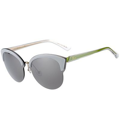 Christian Dior Cat-Eye Shades Sculpt Green Temples Young Travelling  For Sale