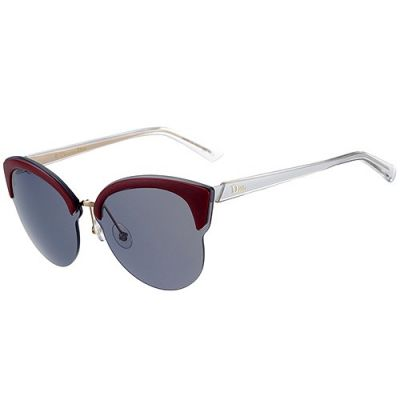 Christian Dior Shades Cat-Eye Sculpt White Temples Trendy Latest Design Lady