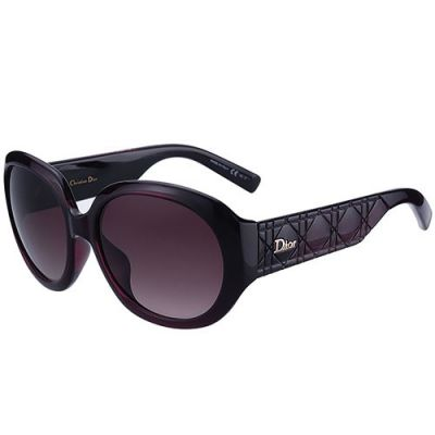 Christian Dior High Quality Plum Super-wide Temples Ladies Oval Frame Fake Eyewear