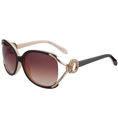 Cartier Oval Retro Sunglasses Noble Beige Womens Brown Lences Best Selling