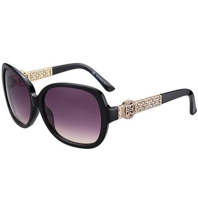 Givenchy Rose Gold Logo Temples Hot Selling Ladies Butterfly Sunglass Purple Lenses