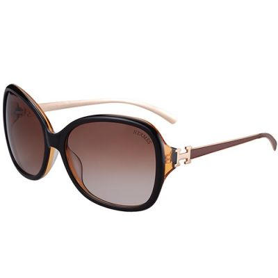 Hermes Womens Popular H Logo Temples Butterfly Protection Clone Eyewear Brown Lenses