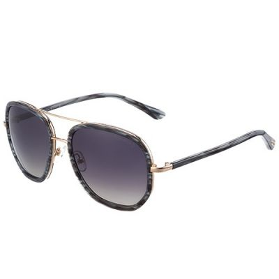 Tom Ford Aviator Oversized Black Mens Oval Sunglass Rose Gold Frame For Sale
