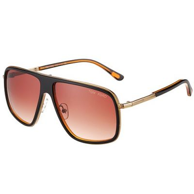 2017 Hot Selling Tom Ford Women's Oversized Brown Sunglasses Rose Gold Frame