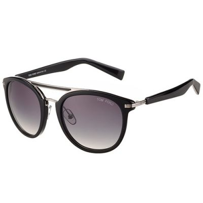 Tom Ford Aviator Black & Silver Frame Womens Butterfly Sunglass Plum Lenses Replica