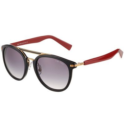 Fake Tom Ford Aviator Black Frame Twin-Beams Ladies Butterfly Sunglasses Red Temples