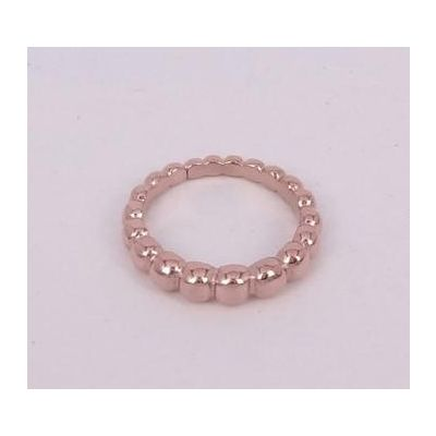 Van Cleef & Arpels Perlee Band Ring Replica 18kt Pink/Yellow Gold Jewelry For Sale Online