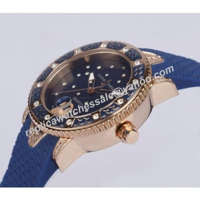 Rep Lady Ulysse-Nardin Marine Collection  Ref 8103-101E-3C/10.13 Dark Blue Diver Quartz Watch