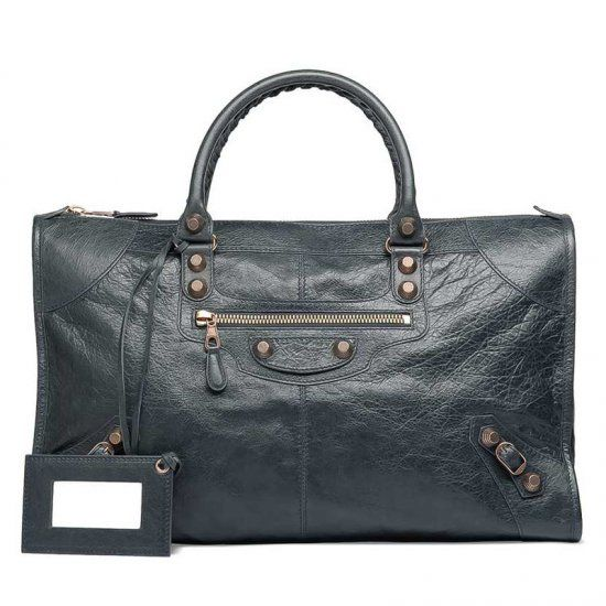 0fc2c485a6b1 AAA Quality Balenciaga Giant 12 Anthracite Leather Rose Gold Hardware Work  Flat Top Studs Totes For Girls