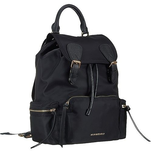 390c497d3 AAA Quality Burberry Large Rucksack Black Nylon Backpack Gold Hardware  Replica