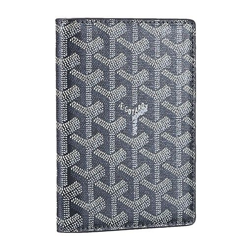 8a24c7dc5f80 Vintage Goyard St Pierre Leather Grey Long Wallet Unisex Best Replica  Designer