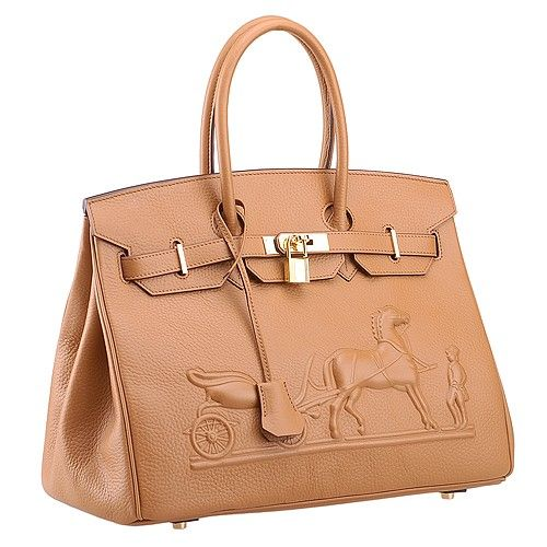 fab7145fc3 High Quality Hermes Birkin Horse Embossed Gold Plated Hardware Belt Flap  Tote Bag For Ladies