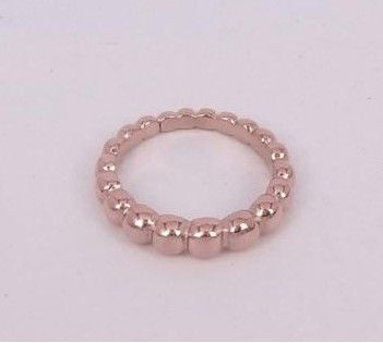 19df88d43d212 Van Cleef   Arpels Perlee Band Ring Replica 18kt Pink Yellow Gold Jewelry  For Sale Online